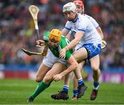 31 March 2019; Séamus Flanagan of Limerick in action against Shane McNulty of Waterford during the Allianz Hurling League Division 1 Final match between Limerick and Waterford at Croke Park in Dublin. Photo by Ray McManus/Sportsfile