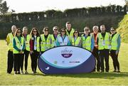 31 March 2019; Steward's before the start of the parkrun Ireland in partnership with Vhi Ireland, at Burgess GAA Grounds, Kilcolman, Nenagh in  Co. Tipperary. parkrun Ireland expanded their range of junior events to 19 with the introduction of the Heritage junior parkrun on Sunday morning. Junior parkruns are 2km long and cater for 4 to 14-year olds, free of charge providing a fun and safe environment for children to enjoy exercise. To register for a parkrun near you visit www.parkrun.ie. Photo by Matt Browne/Sportsfile