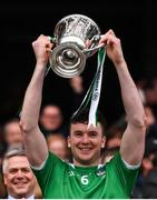 31 March 2019; Declan Hannon of Limerick lifting the cup following the Allianz Hurling League Division 1 Final match between Limerick and Waterford at Croke Park in Dublin. Photo by Stephen McCarthy/Sportsfile