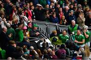 31 March 2019; Limerick captain Declan Hannon lifts the trophy following the Allianz Hurling League Division 1 Final match between Limerick and Waterford at Croke Park in Dublin. Photo by Ramsey Cardy/Sportsfile