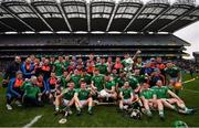 31 March 2019; Limerick players celebrate after the Allianz Hurling League Division 1 Final match between Limerick and Waterford at Croke Park in Dublin. Photo by Stephen McCarthy/Sportsfile