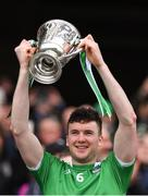 31 March 2019; Limerick captain Declan Hannon lifts the cup after the Allianz Hurling League Division 1 Final match between Limerick and Waterford at Croke Park in Dublin. Photo by Piaras Ó Mídheach/Sportsfile