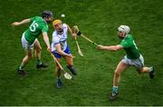 31 March 2019; Jack Prendergast of Waterford in action against Graeme Mulcahy, left, and Cian Lynch of Limerick during the Allianz Hurling League Division 1 Final match between Limerick and Waterford at Croke Park in Dublin. Photo by Ramsey Cardy/Sportsfile