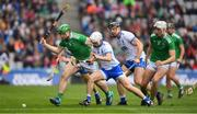 31 March 2019; Shane Dowling of Limerick in action against Stephen Roche of Waterford during the Allianz Hurling League Division 1 Final match between Limerick and Waterford at Croke Park in Dublin. Photo by Ray McManus/Sportsfile