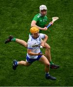 31 March 2019; Jack Prendergast of Waterford in action against Kyle Hayes of Limerick during the Allianz Hurling League Division 1 Final match between Limerick and Waterford at Croke Park in Dublin. Photo by Ramsey Cardy/Sportsfile