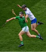 31 March 2019; Peter Casey of Limerick in action against Calum Lyons of Waterford during the Allianz Hurling League Division 1 Final match between Limerick and Waterford at Croke Park in Dublin. Photo by Ramsey Cardy/Sportsfile