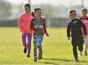 31 March 2019; Action from the parkrun Ireland in partnership with Vhi Ireland, at Burgess GAA Grounds, Kilcolman, Nenagh in  Co. Tipperary. parkrun Ireland expanded their range of junior events to 19 with the introduction of the Heritage junior parkrun on Sunday morning. Junior parkruns are 2km long and cater for 4 to 14-year olds, free of charge providing a fun and safe environment for children to enjoy exercise. To register for a parkrun near you visit www.parkrun.ie. Photo by Matt Browne/Sportsfile