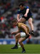 31 March 2019; Gavin Crowley of Kerry in action against Diarmuid O'Connor of Mayo during the Allianz Football League Division 1 Final match between Kerry and Mayo at Croke Park in Dublin. Photo by Stephen Mccathy/Sportsfile