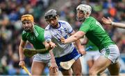 31 March 2019; Pauric Mahony of Waterford in action against Séamus Flanagan, left, and Kyle Hayes of Limerick during the Allianz Hurling League Division 1 Final match between Limerick and Waterford at Croke Park in Dublin. Photo by Piaras Ó Mídheach/Sportsfile
