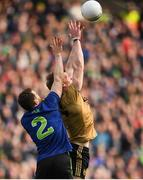 31 March 2019; Tommy Walsh of Kerry in action against Chris Barrett of Mayo during the Allianz Football League Division 1 Final match between Kerry and Mayo at Croke Park in Dublin. Photo by Stephen McCarthy/Sportsfile