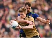 31 March 2019; Tommy Walsh of Kerry in action against Aidan O'Shea of Mayo during the Allianz Football League Division 1 Final match between Kerry and Mayo at Croke Park in Dublin. Photo by Stephen McCarthy/Sportsfile