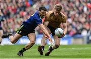 31 March 2019; Tommy Walsh of Kerry in action against Chris Barrett of Mayo during the Allianz Football League Division 1 Final match between Kerry and Mayo at Croke Park in Dublin. Photo by Piaras Ó Mídheach/Sportsfile