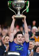 31 March 2019; Diarmuid O'Connor of Mayo lifts the cup following the Allianz Football League Division 1 Final match between Kerry and Mayo at Croke Park in Dublin. Photo by Piaras Ó Mídheach/Sportsfile