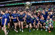 31 March 2019; Fergal Boland of Mayo flings the cup in the air as he and his Mayo teammates celebrate after the Allianz Football League Division 1 Final match between Kerry and Mayo at Croke Park in Dublin. Photo by Ray McManus/Sportsfile