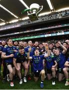 31 March 2019; The Mayo team celebrate with the cup following the Allianz Football League Division 1 Final match between Kerry and Mayo at Croke Park in Dublin. Photo by Stephen McCarthy/Sportsfile