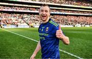 31 March 2019; Keith Higgins of Mayo celebrates after the Allianz Football League Division 1 Final match between Kerry and Mayo at Croke Park in Dublin. Photo by Ray McManus/Sportsfile