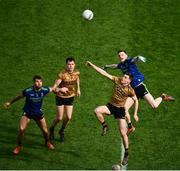 31 March 2019; Diarmuid O'Connor of Kerry competes for the throw-in with Matthew Ruane of Mayo during the Allianz Football League Division 1 Final match between Kerry and Mayo at Croke Park in Dublin. Photo by Ramsey Cardy/Sportsfile