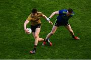 31 March 2019; Seán O'Shea of Kerry in action against Matthew Ruane of Mayo during the Allianz Football League Division 1 Final match between Kerry and Mayo at Croke Park in Dublin. Photo by Ramsey Cardy/Sportsfile