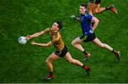 31 March 2019; David Clifford of Kerry in action against Matthew Ruane of Mayo during the Allianz Football League Division 1 Final match between Kerry and Mayo at Croke Park in Dublin. Photo by Ramsey Cardy/Sportsfile