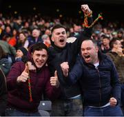 31 March 2019; Mayo supporters reacts to a late score during the Allianz Football League Division 1 Final match between Kerry and Mayo at Croke Park in Dublin. Photo by Stephen McCarthy/Sportsfile