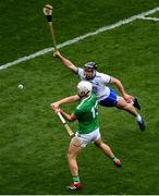 31 March 2019; Aaron Gillane of Limerick in action against Noel Connors of Waterford during the Allianz Hurling League Division 1 Final match between Limerick and Waterford at Croke Park in Dublin. Photo by Ramsey Cardy/Sportsfile