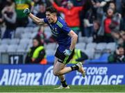 31 March 2019; Ciarán Treacy of Mayo celebrates scoring his side's third goal during the Allianz Football League Division 1 Final match between Kerry and Mayo at Croke Park in Dublin. Photo by Piaras Ó Mídheach/Sportsfile