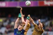 31 March 2019; Matthew Ruane of Mayo in action against Diarmuid O'Connor and Mark Griffin, right, of Kerry during the Allianz Football League Division 1 Final match between Kerry and Mayo at Croke Park in Dublin. Photo by Stephen McCarthy/Sportsfile