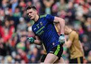 31 March 2019; Matthew Ruane of Mayo celebrates scoring his side's first goal during the Allianz Football League Division 1 Final match between Kerry and Mayo at Croke Park in Dublin. Photo by Piaras Ó Mídheach/Sportsfile