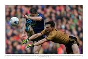 31 March 2019; Patrick Durcan of Mayo has his shot blocked down by Paul Murphy of Kerry during the Allianz Football League Division 1 Final match between Kerry and Mayo at Croke Park in Dublin. Photo by Piaras Ó Mídheach/Sportsfile