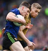 31 March 2019; James Carr of Mayo in action against Peter Crowley of Kerry during the Allianz Football League Division 1 Final match between Kerry and Mayo at Croke Park in Dublin. Photo by Ray McManus/Sportsfile