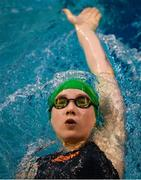 31 March 2019; Aisling Rowlands of Trojan SC, Co. Dublin, competes in the Female 200m Backstroke Junior Final during the Irish Long Course Swimming Championships at the National Aquatic Centre in Abbotstown, Dublin. Photo by Harry Murphy/Sportsfile