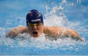 31 March 2019; Paddy Johnston of Ards SC, Co. Down, competes in the Male 100m Butterfly Open Final during the Irish Long Course Swimming Championships at the National Aquatic Centre in Abbotstown, Dublin. Photo by Harry Murphy/Sportsfile