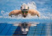 31 March 2019; Jeremy O'Connor of NCL Limerick, Co. Limerick competes in the Male 100m Butterfly Junior Final during the Irish Long Course Swimming Championships at the National Aquatic Centre in Abbotstown, Dublin. Photo by Harry Murphy/Sportsfile