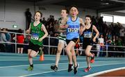 31 March 2019; Michael Burke of East Galway A.C., Co. Galway, competing in the Boys Under 14 800m event during Day 2 of the Irish Life Health National Juvenile Indoor Championships at AIT in Athlone, Co Westmeath. Photo by Sam Barnes/Sportsfile