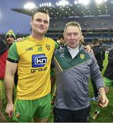 30 March 2019; Neil McGee of Donegal with the team doctor Dr Kevin Moran after the Allianz Football League Division 2 Final match between Meath and Donegal at Croke Park in Dublin. Photo by Ray McManus/Sportsfile
