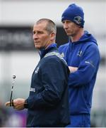 1 April 2019; Senior coach Stuart Lancaster, left, and Head coach Leo Cullen during Leinster squad training at Energia Park in Donnybrook, Dublin. Photo by David Fitzgerald/Sportsfile