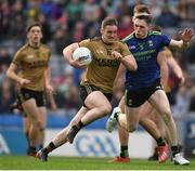 31 March 2019; Stephen O'Brien of Kerry in action against Patrick Durcan of Mayo during the Allianz Football League Division 1 Final match between Kerry and Mayo at Croke Park in Dublin. Photo by Ray McManus/Sportsfile