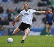 31 March 2019; Mayo goalkeeper Rob Hennelly kicks a free during the Allianz Football League Division 1 Final match between Kerry and Mayo at Croke Park in Dublin. Photo by Ray McManus/Sportsfile