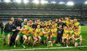 30 March 2019; The Donergal squad celebrate with the cup after during the Allianz Football League Division 2 Final match between Meath and Donegal at Croke Park in Dublin. Photo by Ray McManus/Sportsfile