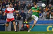 30 March 2019; Paddy Maguire of Leitrim in action against Niall Keenan of Derry during the Allianz Football League Division 4 Final between Derry and Leitrim at Croke Park in Dublin. Photo by Ray McManus/Sportsfile