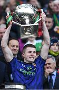 31 March 2019; Conor Diskin of Mayo lifts the cup after the Allianz Football League Division 1 Final match between Kerry and Mayo at Croke Park in Dublin. Photo by Ray McManus/Sportsfile