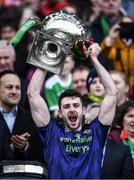 31 March 2019; Brendan Harrison of Mayo lifts the cup after the Allianz Football League Division 1 Final match between Kerry and Mayo at Croke Park in Dublin. Photo by Ray McManus/Sportsfile