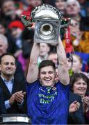 31 March 2019;James Carr of Mayo lifts the cup after the Allianz Football League Division 1 Final match between Kerry and Mayo at Croke Park in Dublin. Photo by Ray McManus/Sportsfile