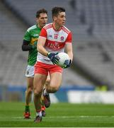 30 March 2019; Shane McGuigan of Derry during the Allianz Football League Division 4 Final between Derry and Leitrim at Croke Park in Dublin. Photo by Ray McManus/Sportsfile