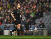 30 March 2019; Referee Brendan Cawley during the Allianz Football League Division 4 Final between Derry and Leitrim at Croke Park in Dublin. Photo by Ray McManus/Sportsfile