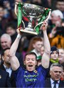 31 March 2019; Donal Vaughan of Mayo lifts the cup after the Allianz Football League Division 1 Final match between Kerry and Mayo at Croke Park in Dublin. Photo by Ray McManus/Sportsfile