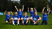 3 April 2019; The Bank of Ireland Leinster Rugby Summer Camps and new inclusion camps were launched by Leinster Rugby stars Josh Van Der Flier, Rhys Ruddock and Robbie Henshaw along with school kids, from left, Kate Gunne, age 9, Molly Kearney, age 8, Vincent Hoolahan, age 10 and Andrew Quinlan, age 9, at a pop up training session in St. Mary's National School, Ranelagh. The camps will run in 27 different venues across the province throughout July and August. Visit www.leinsterrugby.ie/camps for more information. Photo by David Fitzgerald/Sportsfile