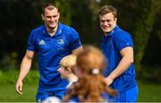3 April 2019; The Bank of Ireland Leinster Rugby Summer Camps and new inclusion camps were launched by Leinster Rugby stars Josh Van Der Flier, Rhys Ruddock, Robbie Henshaw and mascot Leo the Lion at a pop up training session in St. Mary's National School, Ranelagh. The camps will run in 27 different venues across the province throughout July and August. Visit www.leinsterrugby.ie/camps for more information. Photo by David Fitzgerald/Sportsfile