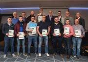 06 April 2019; The Roscommon recipients including Alan Cox, Connell Kennelly, Ray Mc Loughlin, David Connaughton, William Galvin, Tom Finneran, Aaron Sharkey, Padraic O Dowd, Cormac Kelly, Dermot Lyons, Haulie Beirne – Administrator are photographed with Uachtaráin Cumann Lúthchleas Gael John Horan,Willie Barrett, Chairman National Referee Development Committee, and Vincent Neary, right, Chairman Referee Instructor Workgroup, at the presentation of certificates to new referees at Croke Park in Dublin. Photo by Ray McManus/Sportsfile