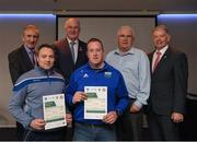 06 April 2019; The Tipperary recipients including Eoin Kelly, John Lillis, Jim O'Shea – Administrator are photographed with Uachtaráin Cumann Lúthchleas Gael John Horan, Willie Barrett, left, Chairman National Referee Development Committee and Vincent Neary, right, Chairman Referee Instructor Workgroup, at the presentation of certificates to new referees at Croke Park in Dublin. Photo by Ray McManus/Sportsfile